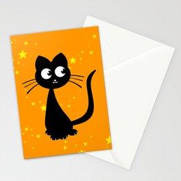 Kitty Kuro Orange Stationery Cards