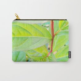 Happy Neon Green Fall Sapling Carry-All Pouch