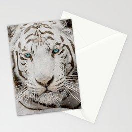 WHITE TIGER GAZE Stationery Cards