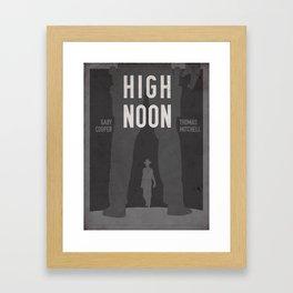 High Noon Western Movie Print Framed Art Print