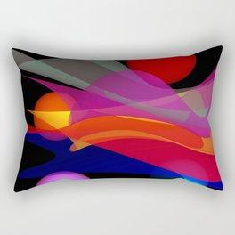 waves on black -02- Rectangular Pillow