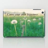 jane austen iPad Cases featuring Happiness Jane Austen by KimberosePhotography