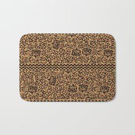 Golden Renaissance Damask Bath Mat