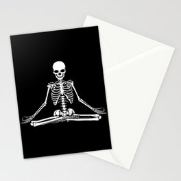 Meditation Skeleton Stationery Cards