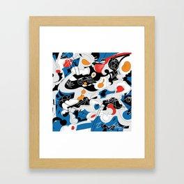 sizzle kinks of curved lines Framed Art Print