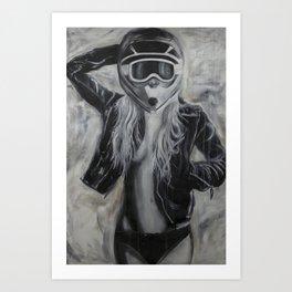 Moto Chick Art Print