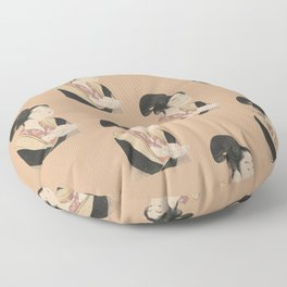 Vintage Japanese Ukiyo-e Woodblock Print Woman Portrait II Floor Pillow