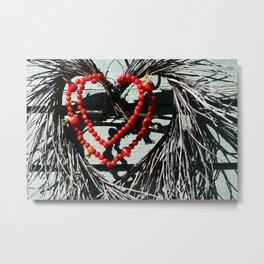 Rose hip heart Metal Print