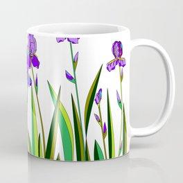 Large Purple Irises Coffee Mug