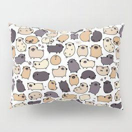 Pug Life Doodle Pillow Sham
