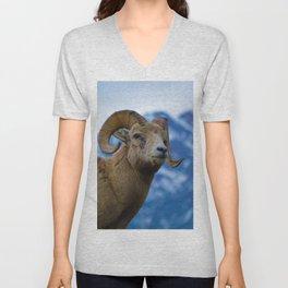 Big Horn Sheep in Jasper National Park   Canada Unisex V-Neck