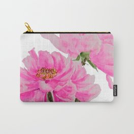 two pink peonies watercolor Carry-All Pouch