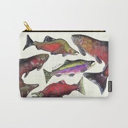 Salmon Fish Chart Carry-All Pouch