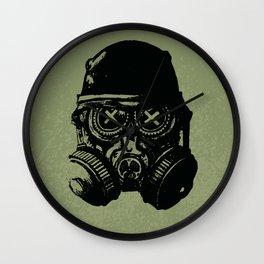 Gas mask skull Wall Clock