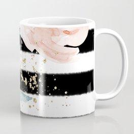 Rose Arrangement on Black Stripes No. 1 Coffee Mug