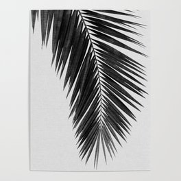 Palm Leaf Black & White I Poster