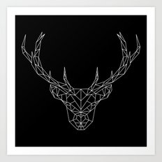 Low Poly Deer Art Print