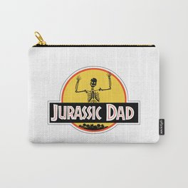 Jurassic Dad Dinosaur Skeleton Funny Birthday Gift 2 Carry-All Pouch
