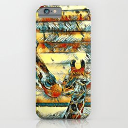 AnimalArt_Giraffe_20170901_by_JAMColorsSpecial iPhone Case
