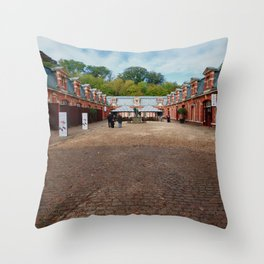 Waddesdon Manor Stables Throw Pillow