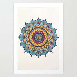 Rainbow Colored Mandala Art Print