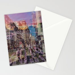 San Francisco city illusion Stationery Cards