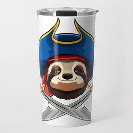 Pirate Sloth Viking Novelty Halloween Travel Mug
