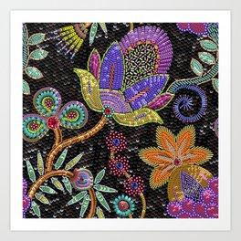 Sequins seamless pattern. Art Print