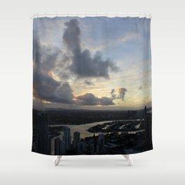 Golden sunsets Shower Curtain