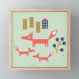 Fox Family Framed Mini Art Print