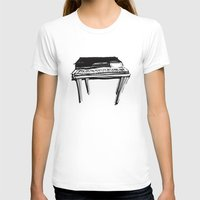 piano T-shirts featuring Piano by Melilarebelle