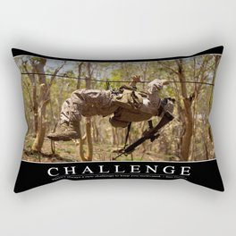 Challenge: Inspirational Quote and Motivational Poster Rectangular Pillow