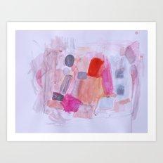 Whisper Pink Art Print