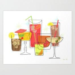Swanky Summer Coolers Art Print