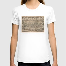 Vintage Pictorial Map of Yarmouth Nova Scotia (1889) T-shirt