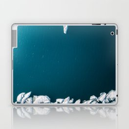 Minimalist Ice Bergs in the blue Ocean - Aerial Photography Laptop & iPad Skin