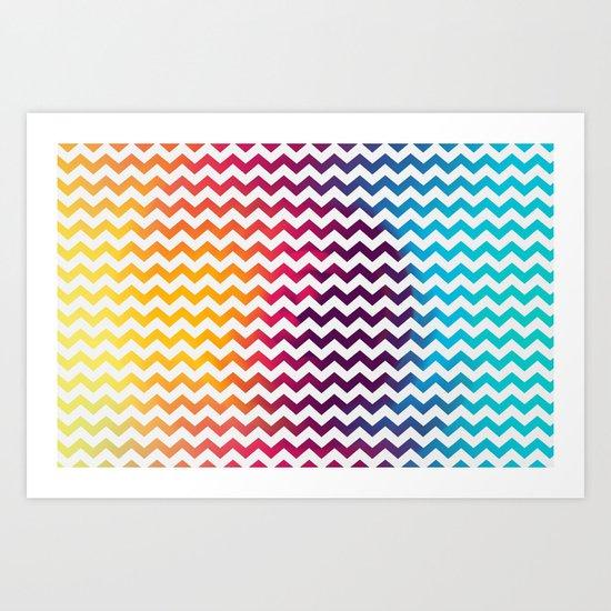 Rainbow Zoon Art Print