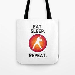 Eat. Sleep. Baseball. Repeat. T Shirt Baseball TShirt Pitcher Shirt Vintage Gift Idea  Tote Bag
