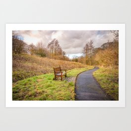 Walking in Wycoller Art Print
