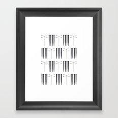 Dagonfly & nails Framed Art Print