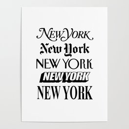 I Heart New York City Black and White New York Poster I Love NYC Design black-white home wall decor Poster