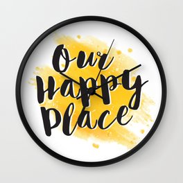 Our Happy Place Wall Clock