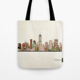 indianapolis indiana skyline Tote Bag