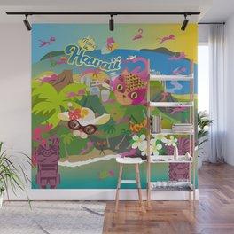 Mews in Hawaii Wall Mural