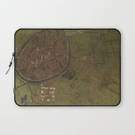 Old Map Of Bruges, Belgium Laptop Sleeve