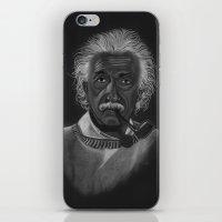 einstein iPhone & iPod Skins featuring Einstein by Paula Leão