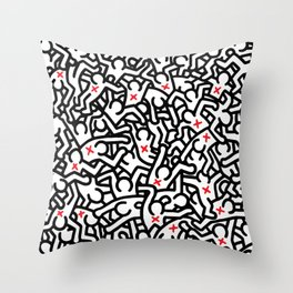 Keith Haring Variation #33 Throw Pillow