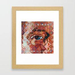 PAUL SIMON STRANGER TO STRANGER TOUR DATES 2019 KAMBOJA Framed Art Print