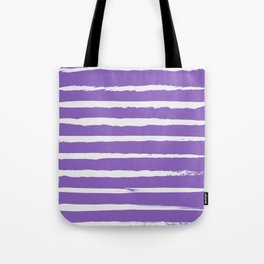 Irregular Hand Painted Stripes Purple Tote Bag