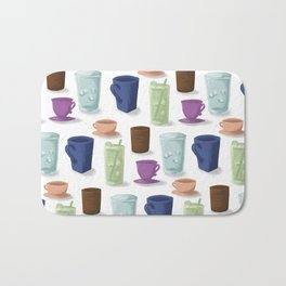 Drinks in Cups Bath Mat